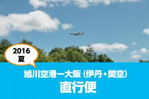 2017年夏の旭川空港-大阪(伊丹空港・関西空港)直行便