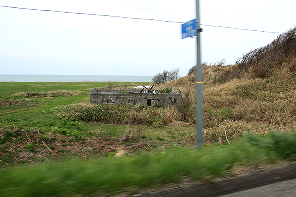 オロロンライン周辺の廃屋