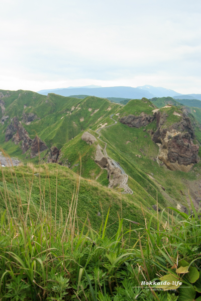 岬展望台から見た神威岬