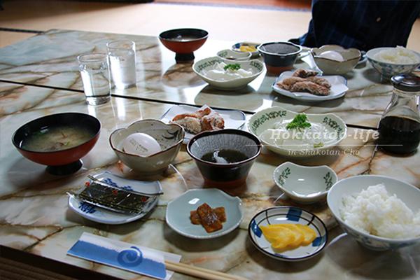 積丹半島「旅館 北海」の朝食