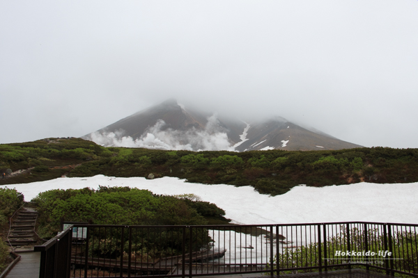 旭岳山頂を姿見駅から撮影