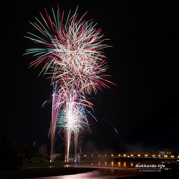 旭川夏祭り2016の打ち上げ花火