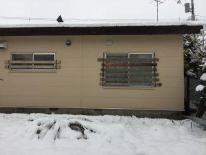 雪囲いを設置しました