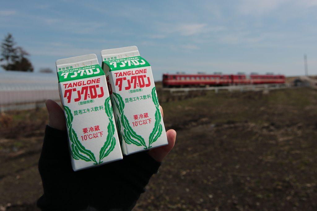 タングロンと赤い電車