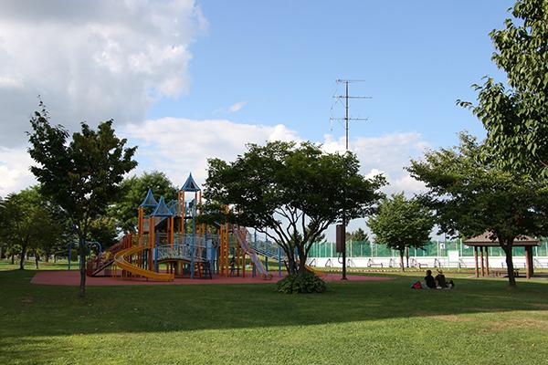 忠和公園(旭川市内)のアスレチックジム