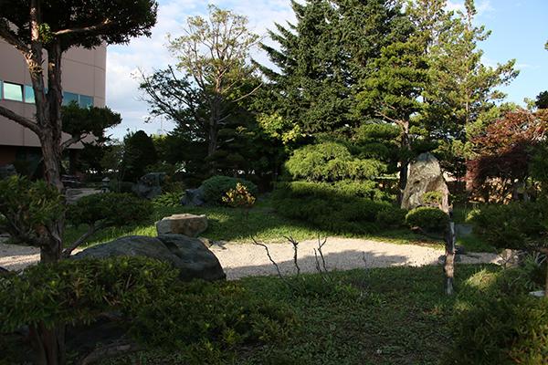 忠和公園(旭川市内)の日本庭園