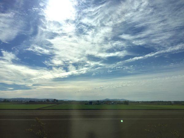 高速バスから見た景色